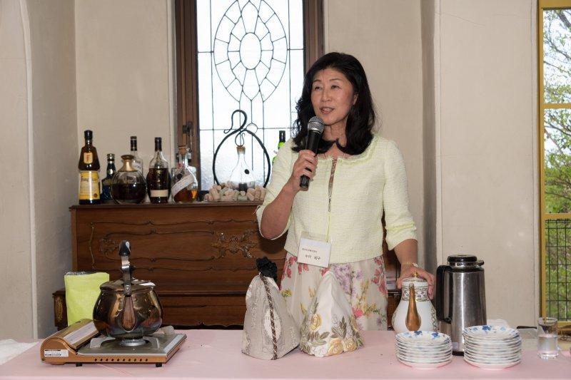 静岡紅茶中村社長による紅茶の淹れ方ミニ講座も開催されました