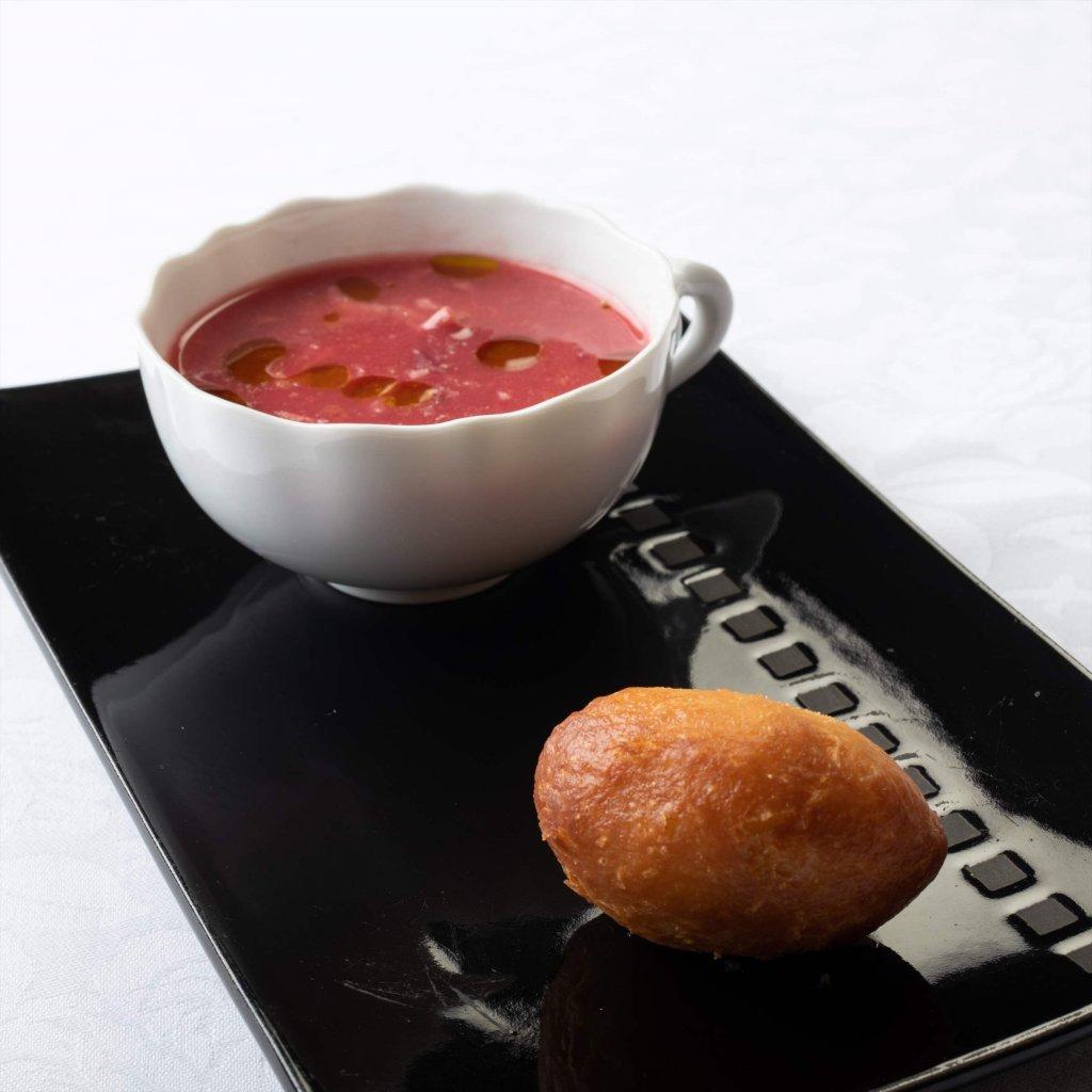 箱根山スープとピロシキ